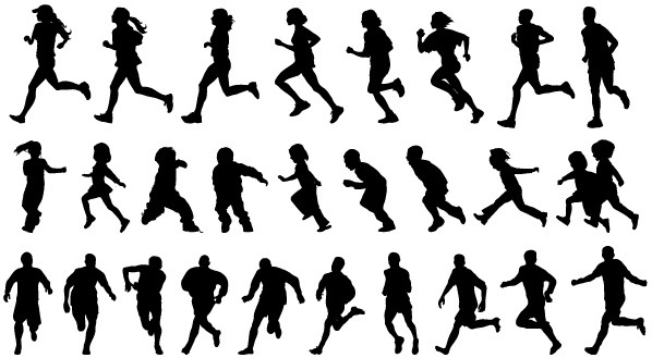 575a6da09659e11dbba1343509ce10b8_free-running-people-people-running-silhouette-clipart-black-and-white_600-365